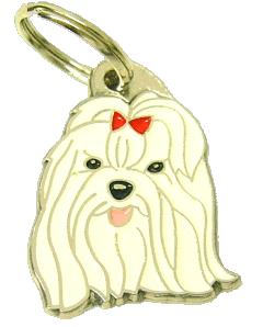 MALTESE RED - pet ID tag, dog ID tags, pet tags, personalized pet tags MjavHov - engraved pet tags online